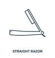 straight razor icon flat style icon design ui vector image vector image