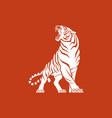 tiger logo sign emblem white vector image