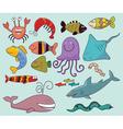 Underwater wildlife vector image