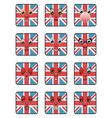union jack emoticons vector image vector image