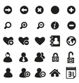 universal icons for web mobile vector image vector image
