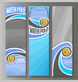 vertical banners for water polo vector image vector image