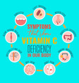 vitamin c deficiency vector image