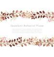 watercolor seamless botanical frame vector image vector image
