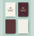 wedding invitation save date cards vintage vector image vector image