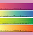 wellington multiple color gradient skyline banner vector image vector image