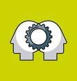 gear teamwork concept image vector image