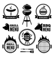 Grill and BBQ1 vector image