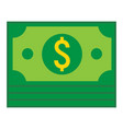 bundle of money flat icon business and finance vector image