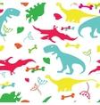 fany dinosaurs vector image