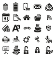 black business icons set on white vector image