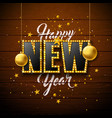 2020 happy new year with 3d light vector image
