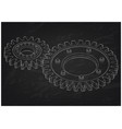 3d model of gears on a black vector image vector image