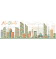 Abstract Abu Dhabi City Skyline vector image vector image