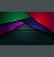 abstract dark navy green with colorful lines vector image vector image