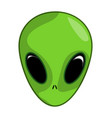 alien ufo face symbol icon design vector image