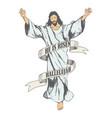 ascension of jesus christ sketch vector image
