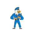 Bald Eagle Policeman Baton Cartoon vector image vector image