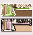 banners for milkshakes vector image vector image