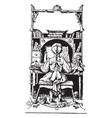 bookplate books vintage engraving vector image vector image