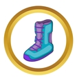 Boot for snowboarding icon vector image vector image