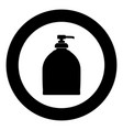 bottle of liquid soap icon black color in circle vector image vector image