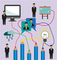 Business idea infographic with icons persons compu vector image vector image