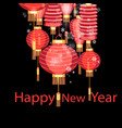 christmas chinese lanterns vector image