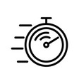 competition stopwatch icon outline vector image vector image