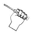 computer screwdriver tool vector image vector image