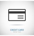 credit card logo vector image vector image