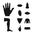design of human and part icon collection vector image