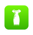 dress icon green vector image vector image