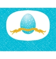 easter card with blue egg and ribbon vector image