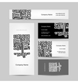 Ethnic ornamental tree business cards design vector image vector image