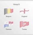 flag group g world football championship vector image