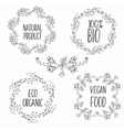 floral decorative frames set Herbs and vector image vector image