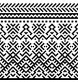 geometric tribal monochrome pattern with ethnic vector image vector image