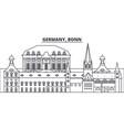 germany bonn line skyline vector image