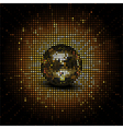 gold reflective disco ball vector image vector image