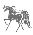gray horse silhouette vector image vector image