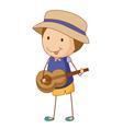 Guitar boy vector image vector image