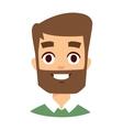 Happy man face vector image vector image