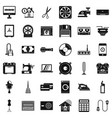 houseworking icons set simple style vector image vector image