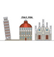 italy pisa city skyline architecture buildings vector image vector image