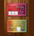 laundry service banner design on board wall vector image