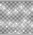 light glow effect star bursts white color vector image vector image
