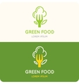 logo food vector image