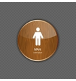 Man application icons vector image vector image