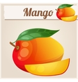 Mango Cartoon icon Series of food and vector image vector image